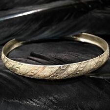Flex Design Bangle Bracelet 7 9/16� Beautiful Estate Sterling Silver Diamond Cut