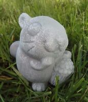 """Latex only MOLD funny squirrel with nut  plaster mold concrete mould 4"""" x 3"""""""