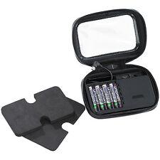 Tasche mit Powerbank: Spritzwasserfeste Navi-Schutztasche mit Powerbank, klein