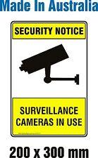 Security Notice Surveillance Camera in Use - METAL Sign