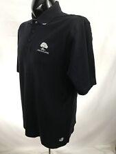 Ahead Authentics mens shirt golf casual polo avalon lakes cotton black s/s M