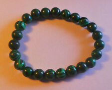 Beaded Green Jade Bracelet - Stretch Fit - Love Fidelity Generosity Abundance