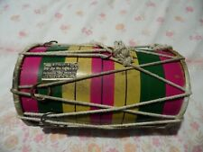 More details for traditional vintage indian bhangra dhol,made in indian,ideal for child,25cm tall