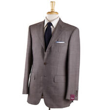 NWT $3695 SARTORIA PARTENOPEA Brown and Blue Stripe Wool Suit 38 R (Eu 48)