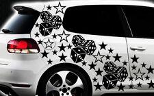 93-teiliges Sterne Würfel Cube Star Auto Aufkleber Tuning WANDTATTOO Blumen xxxv
