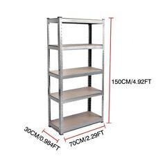 New Metal Racking Garage Shelving Warehouse 5 Tier Storage Shelf No Bolts 875kgs