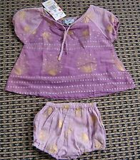 OOBI BABY GIRLS STUNNING SET DRESS AND BLOOMERS SZ 0 NEW WITH TAGS