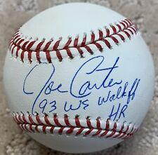 "Joe Carter ""93 WS Walkoff HR"" Toronto Blue Jays Autographed MLB Baseball JSA"