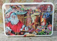 Rare Boîte en métal Déco Noël, père Noël, jouets, Vintage,déco H 7  collection