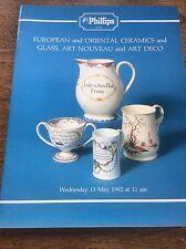 Phillips Catalogue European & Oriental Ceramics Glass Art Nouveau Deco Pottery