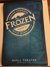 Disney's FROZEN Window Card Poster pre-Broadway Denver World Premiere