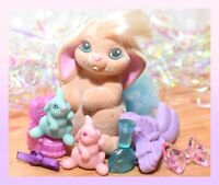 ❤️Vtg Li'l Lil Litters My Little Bunny Pony MLP HAPPY HOPPER Mommy Baby Rabbit❤️