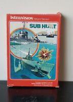 SUB HUNT. 1981 Intellivision game complete in box