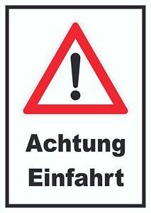 Achtung Einfahrt Schild PKW Auto
