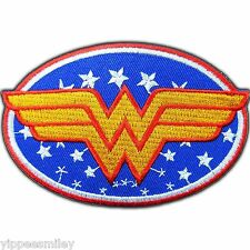 Wonder Woman Logo Stars Classic Super Hero Cartoon Comic Iron on Patches #0082
