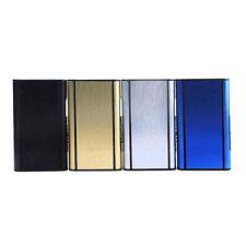 Aluminum Pocket Automatic Ejection Cigarette Case Holder Lighter Metal Box Black