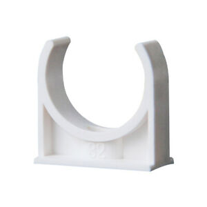 PVC U-Type Pipe Clamp Pipe Clip Tube Holder For 20/25/32/40/50mm Pipe Fittings