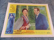 THE BAREFOOT CONTESSA(1954) HUMPHREY BOGART AVA GARDNER ORIG LOBBY CARD