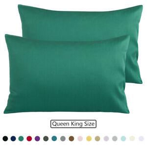 100% Egyptian Cotton Pillowcase Pillow Case Set of 2 Envelope Closure Pillowcase