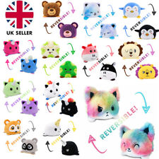 Cute Double-Sided Flip Reversible Unicorn Cat Plush Toys Lover Animals Doll Gift