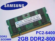 2GB DDR2-800 PC2-6400 SAMSUNG M470T5663QZ3-CF7 MEMORIA PORTATILE RAM MEMORY