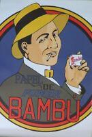 BAMBU-Papel de Fumar-Cigarette Advertising- Poster-Laminated available-90cm x...