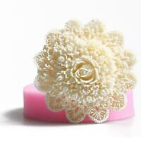 3D Spitze Blume Silikon Fondantform Kuchen Sugarcraft Backform Dekorieren