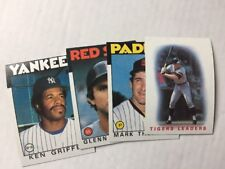 1986 Topps Baseball Card Commons. Pick 50 to Complete Your Set.