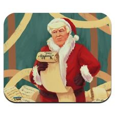 Santa Donald Trump with Naughty List Ch Low Profile Thin Mouse Pad Mousepad