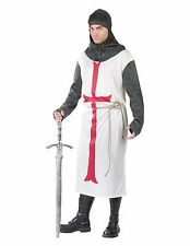 Templar Knight Renaissance Medieval Crusader Adult Costume, Standard Size