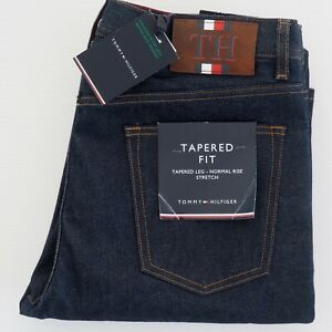 TOMMY HILFIGER Mens Jeans W32 x L32 Tapered Fit Stretch Button Fly RRP$249 NWT