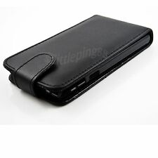 Vertical Flip PU Leather Black Phone Cover Case For Sony Xperia ZR M36h C5502