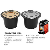 Refillable Reusable Coffee Capsules Pods Filter Cup Accessory For Nespresso *1