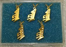 Snap-on Tools Logo 5Pc Set Gold Plated Diamond Necklaces Vintage New Old Stock
