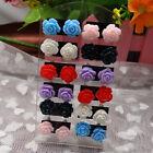 12 Pairs Resin Flower Ear Studs Jewellery Mixed Lots Stud Earrings Display