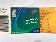 Rugby World Cup Ticket 2003 - Semi Final 1 NZ vs Australia - 15th Nov 2003