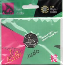 2012 50p OLYMPIC 17/29 JUDO COIN HANGING BAG BRILLIANTLY UNCIRCULATED @