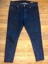 "Diesel Tepphar Slim-Carrot Mens Dark Rinse Skinny Ankle Jeans, 29x24"""