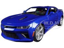 2016 CHEVROLET CAMARO SS BLUE 1:18 DIECAST MODEL CAR BY MAISTO 31689