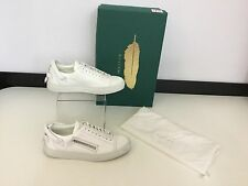 Buscemi Women's Shoes Trainers Sneakers Size Uk 3 Eu 36 White Leather Silver Zip