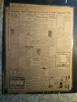 Baseball Babe Ruth Newspaper History OUT OF BB AT END OF SEASON + SCHOOLBOY ROWE