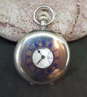 BEAUTIFUL ANTIQUE HALF-HUNTER SOLID SILVER BENSON POCKET WATCH