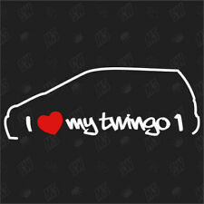 I love my Renault Twingo 1 - Tuning Sticker, Shocker, Auto Fan Aufkleber, Decal