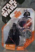 2007 Hasbro Star Wars Saga Legends 30th DARTH VADER with COIN & FREE SHIPPING