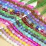 Holographic Matte Mystic Aura Quartz Gemstone Loose Beads Bracelets Necklace