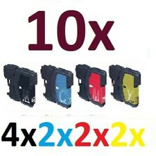 10x für Brother DCP195C DCP165C DCP375CW MFC250C MFC255CW MFC490CW LC980 LC1100