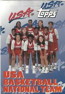 1995 TOPPS USA WOMEN'S BASKETBALL NATIONAL TEAM 24 CARD SET * LESLIE * SWOOPES +