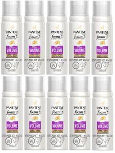 (10) Pantene Pro-V Foam Conditioner Sheer Volume Travel Size 40g 1.4oz