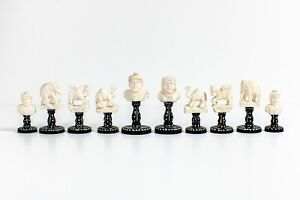 Battle of Hydaspes chess set India about 1950