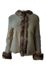 RUFFO RESEARCH Vintage Fall 2000 Fur Lined Suede Coat (S)